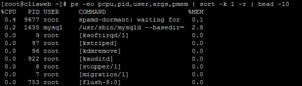 linux-yuksek-cpu-ram-tuketen-tespit