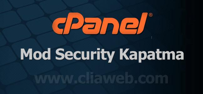 mod-security-kapatma