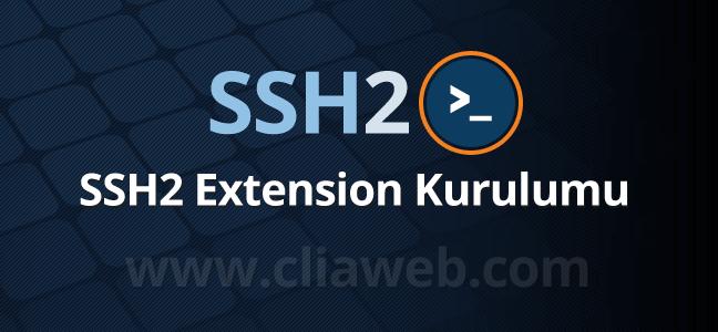 ssh2-kurulumu